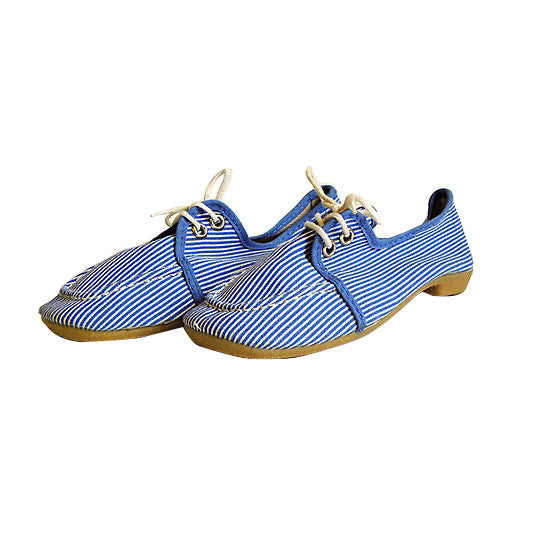 Chaussures toile bleue à rayures - pointure 33