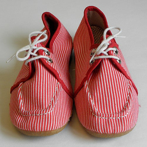 Chaussures toile rouge à rayures - pointure 27