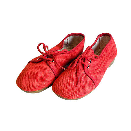 Chaussures toile rouge - pointure 25