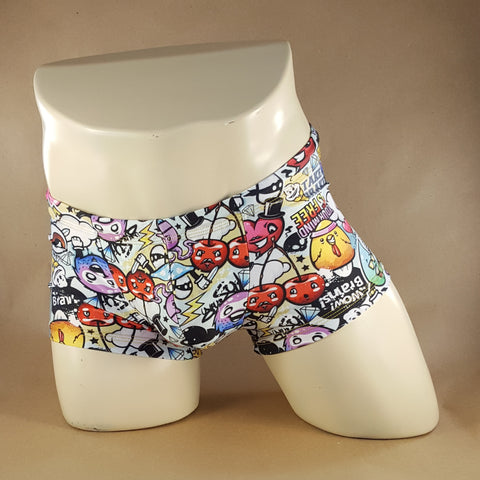 Cartoon Chaos Swim Trunk