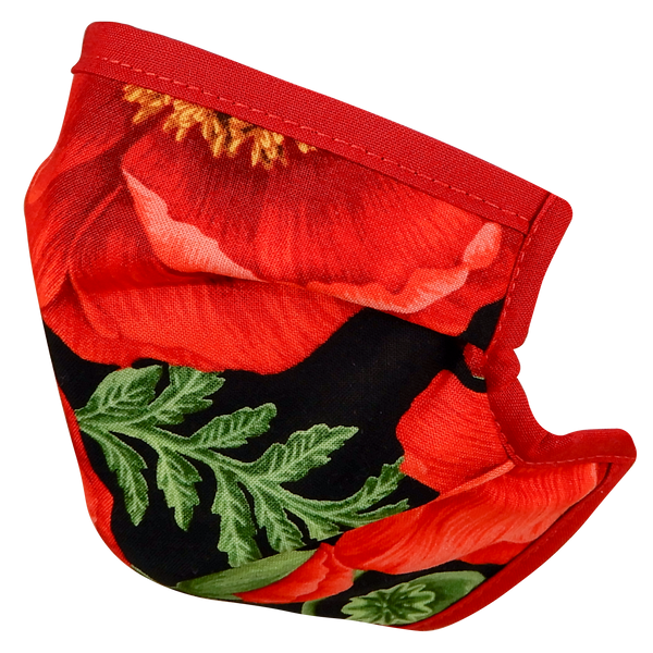 Poppy Floral Face Mask