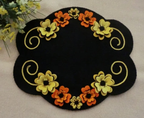 Floral beauty wool applique pattern sentimental stitches