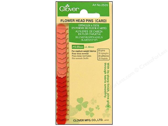 Flower Head Pins for Piecing