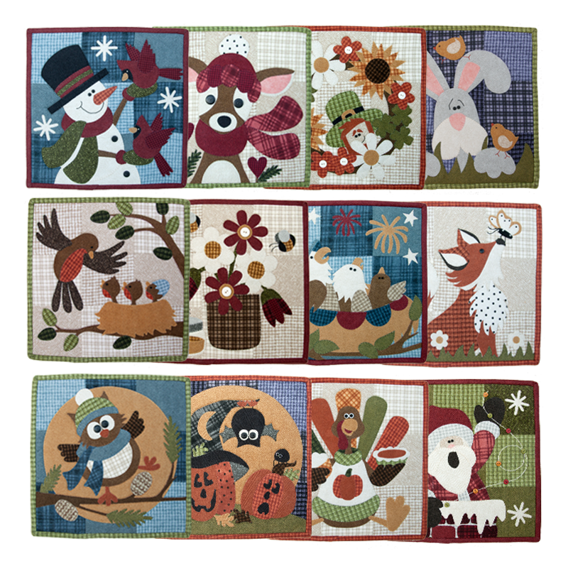 Monthly Calendar Quilt Patterns : Little quilts squared calendar series block of the month