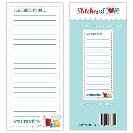 Notepad - Pin Cushion To Do List