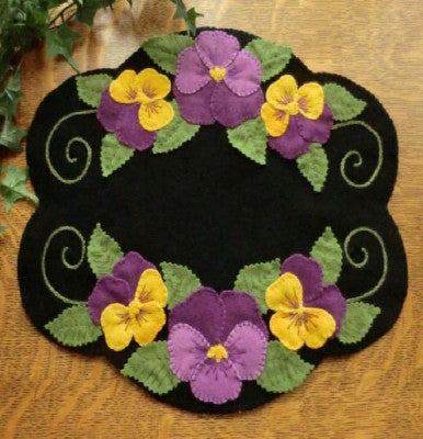 """Pansy Beauty"" Wool Applique Pattern"