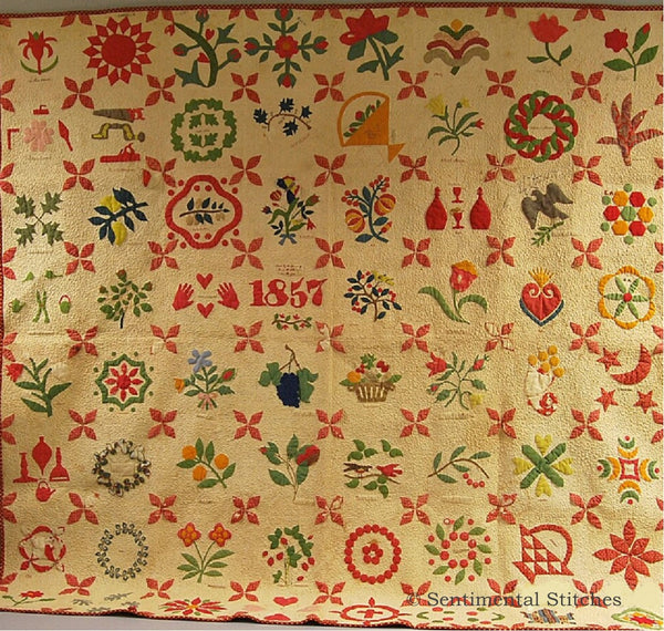The 1857 Album Quilt Block of the Month
