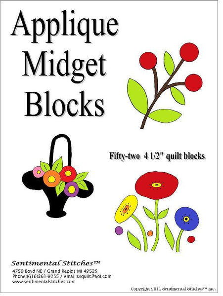 Midget Blocks - Applique