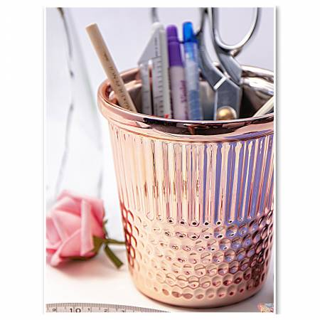 Rose Gold Thimble Container