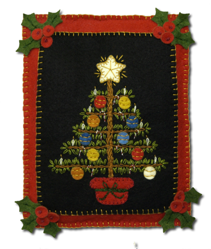 Victorian Christmas Tree Mini Quilt - Wool Felt Kit