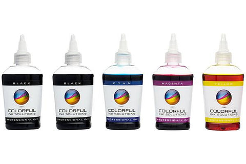 5 Color - Dye + Pigment Ink - Epson compatible - 100ml Bottles