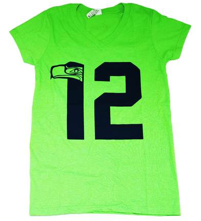 12th Hawk Women's V-Neck T-Shirt - The North West Clothing