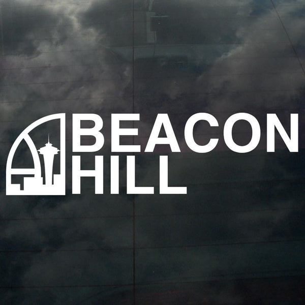 Seattle Super Beacon Hill Decal White - Crisis Clothing