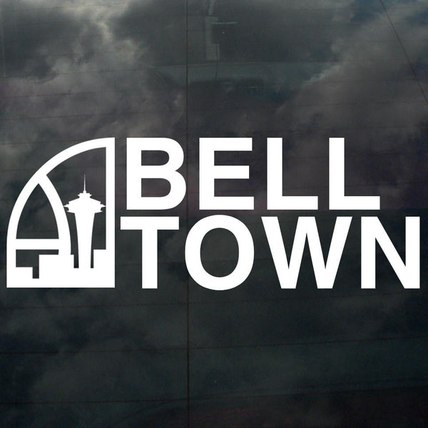 Seattle Super Bell Town Decal White - Crisis Clothing