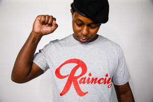 Raincity (Men's T-Shirt) Concrete/Red