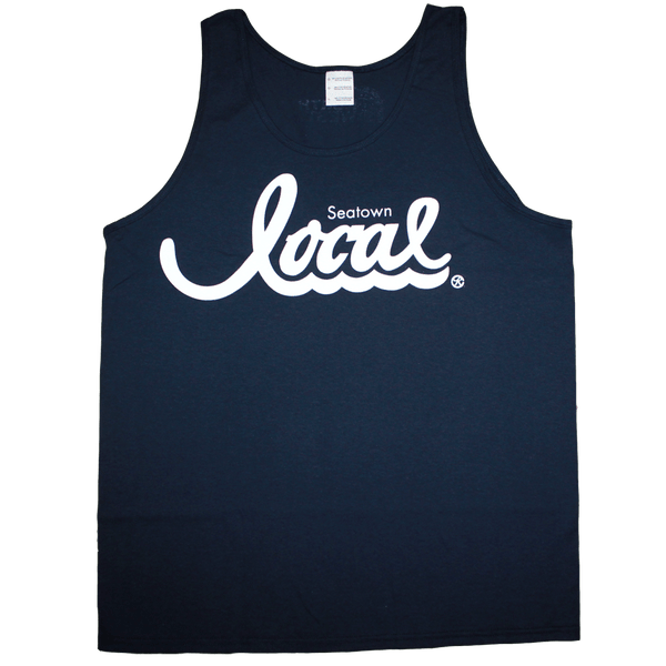 Seatown Local Tank (Men's) Navy/White - Crisis Clothing