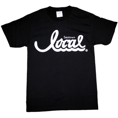 Seatown Local T-Shirt (Men's) Black/White - Crisis Clothing