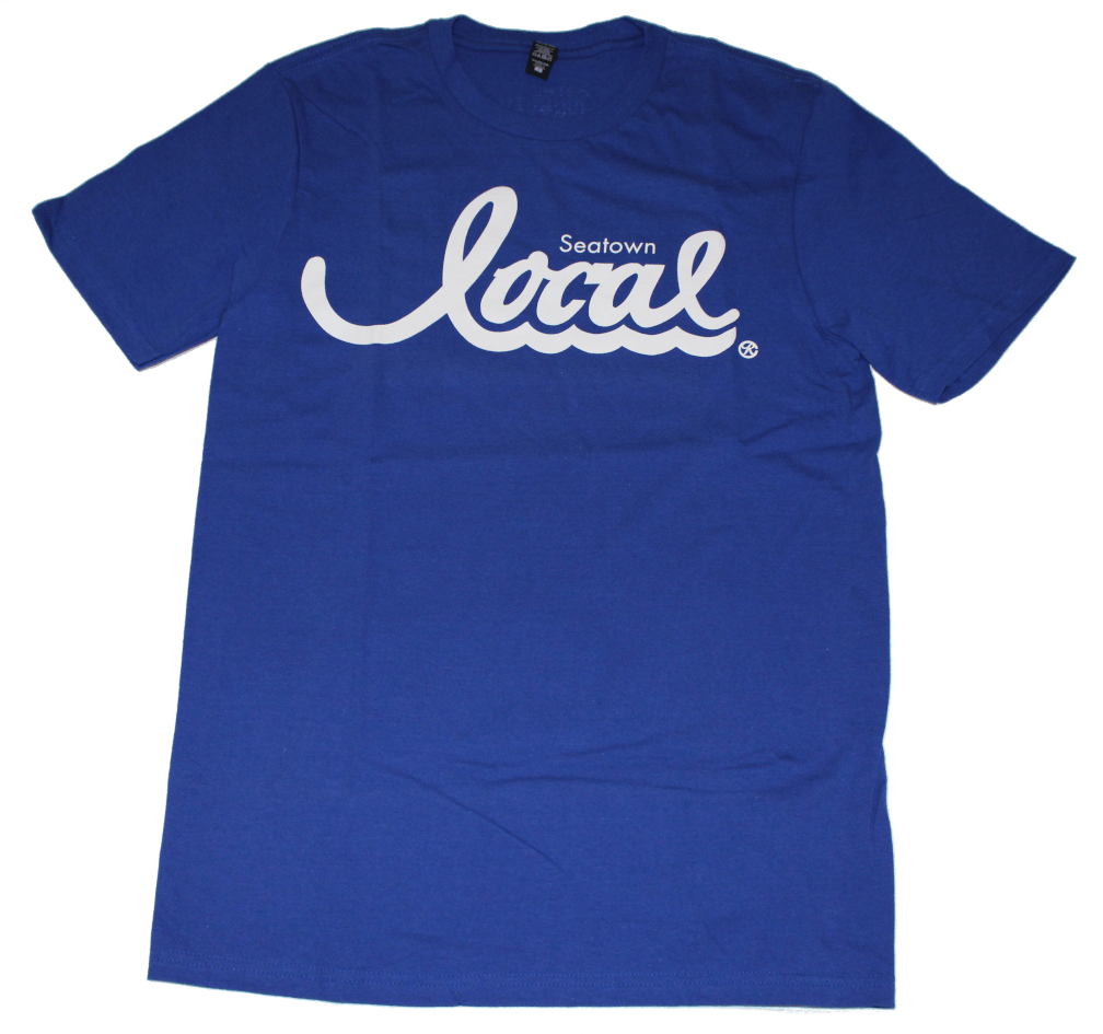 Seatown Local T-Shirt (Men's) Blue/White - Crisis