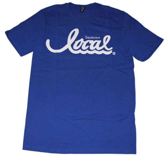 Seatown Local T-Shirt (Men's) Blue/White - The North West Clothing