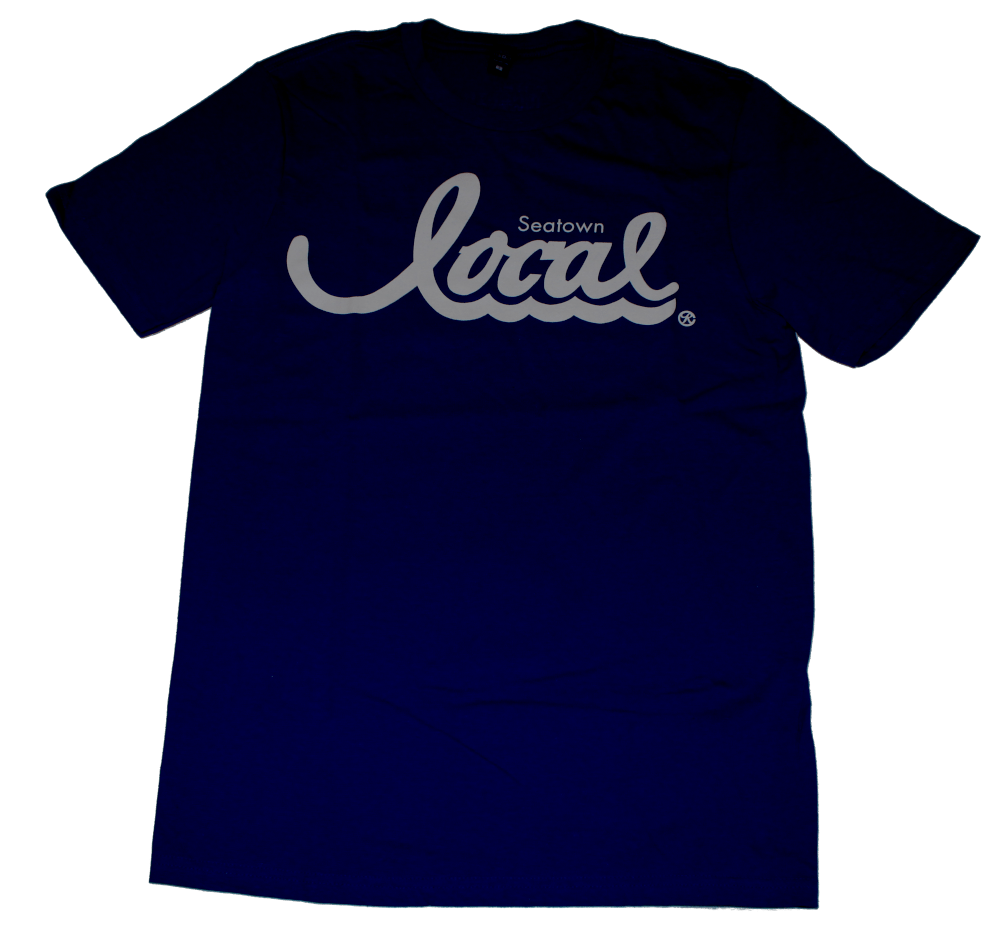 Seatown Local T-Shirt (Men's) Navy/White - Crisis