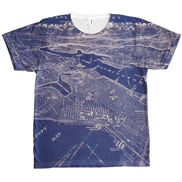 Seattle Area Map T-Shirt (Men's) Crisis Clothing