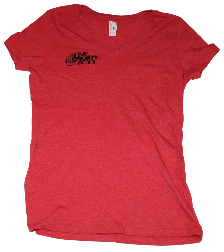 Native The Nxrth Wxst V-Neck T-Shirt (Women's) Red Frost - The North West Clothing