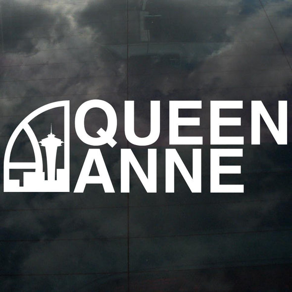 Seattle Super Queen Anne Decal White - Crisis Clothing