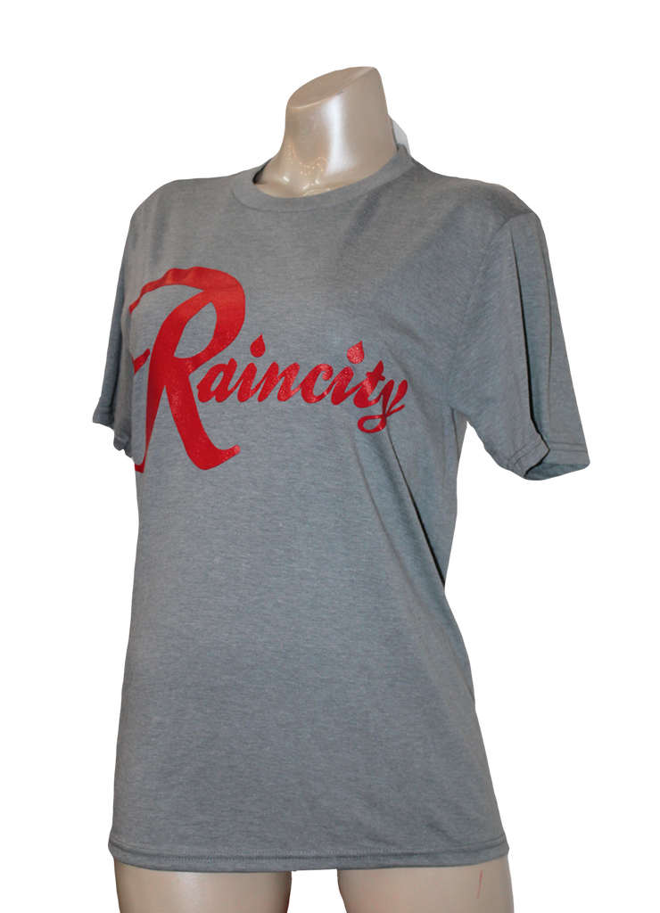 Raincity Unisex T-Shirt, Light Heathered Grey - The North West Clothing