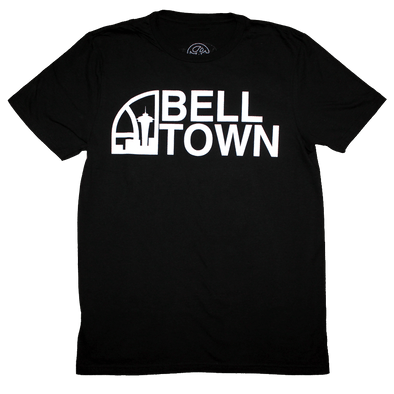 Seattle Super Bell Town T-Shirt (Men's) Black/White - Crisis Clothing