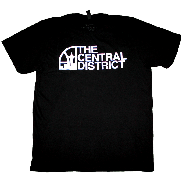 Seattle Super Central District T-Shirt (Men's) Black/White - Crisis Clothing