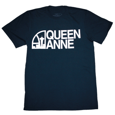 Seattle Super Queen Anne T-Shirt (Men's) Navy/White - Crisis Clothing