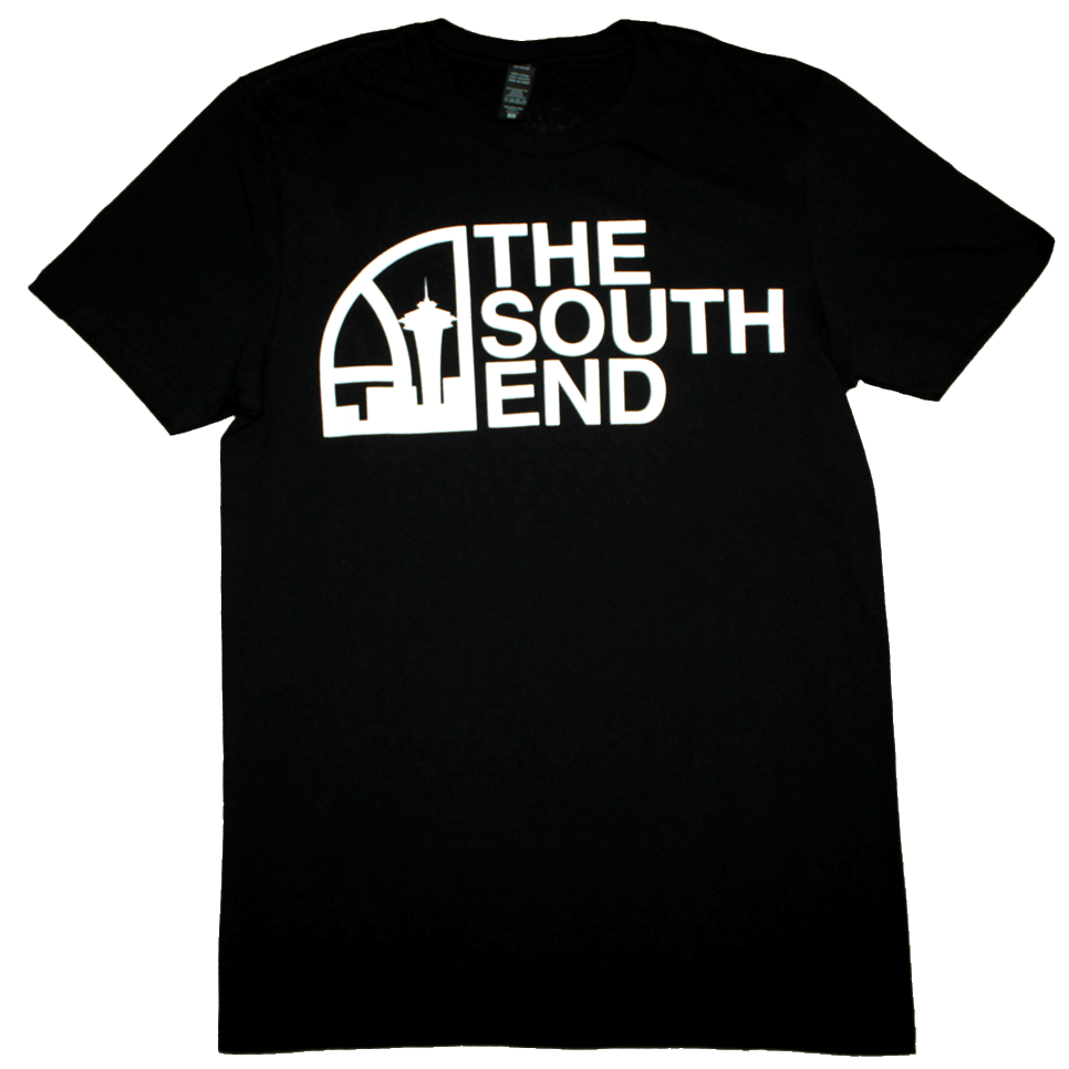 Seattle Super South End T-Shirt (Men's) Black/White - Crisis Clothing