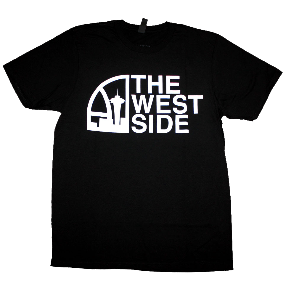 Seattle Super West Side T-Shirt (Men's) Black/White - The North West Clothing