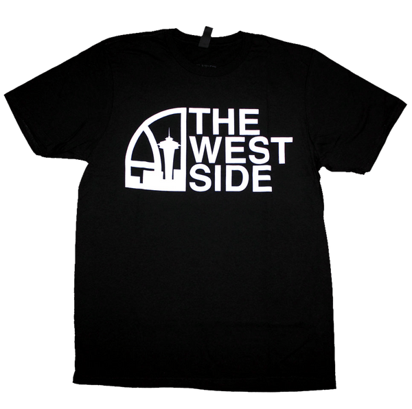 Seattle Super West Side T-Shirt (Men's) Black/White - Crisis Clothing