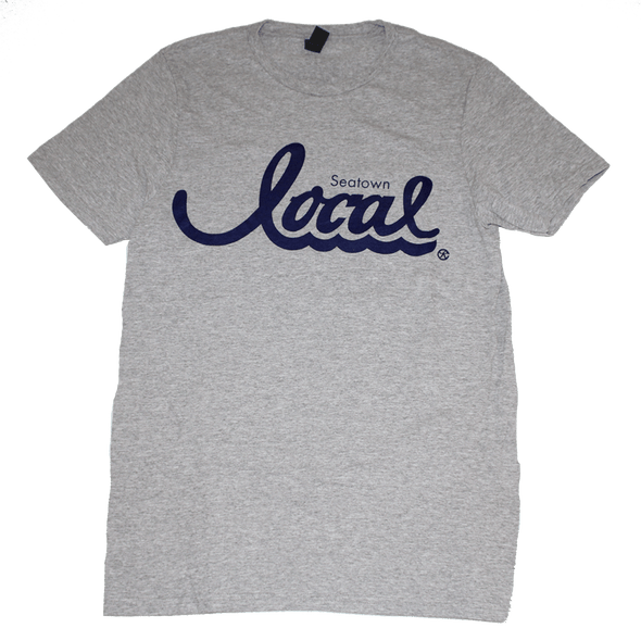 Seatown Local T-Shirt (Men's) Cement/Navy - The North West Clothing