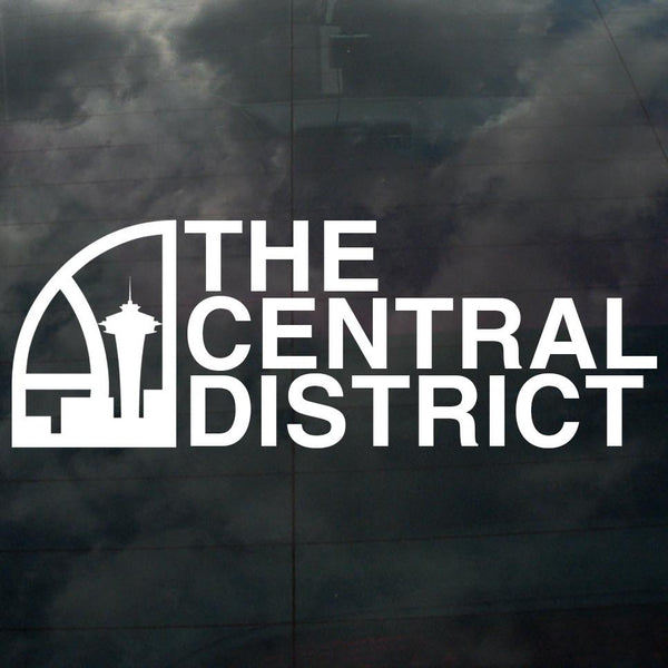 Seattle Super Central District Decal White - Crisis Clothing