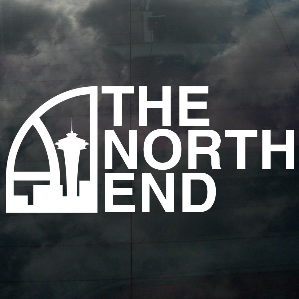 Seattle Super North End Decal White - Crisis Clothing