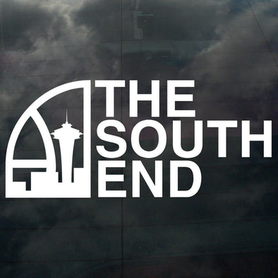 Seattle Super South End Decal White - Crisis Clothing