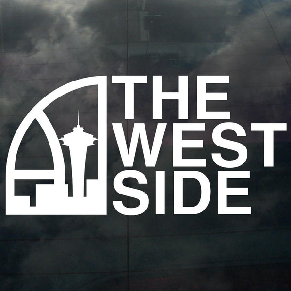 Seattle Super West Side Decal White - Crisis Clothing