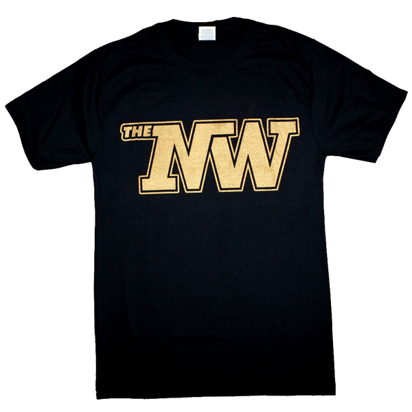 The N-Dub T-Shirt (Men's) Black/Gold - Crisis Clothing