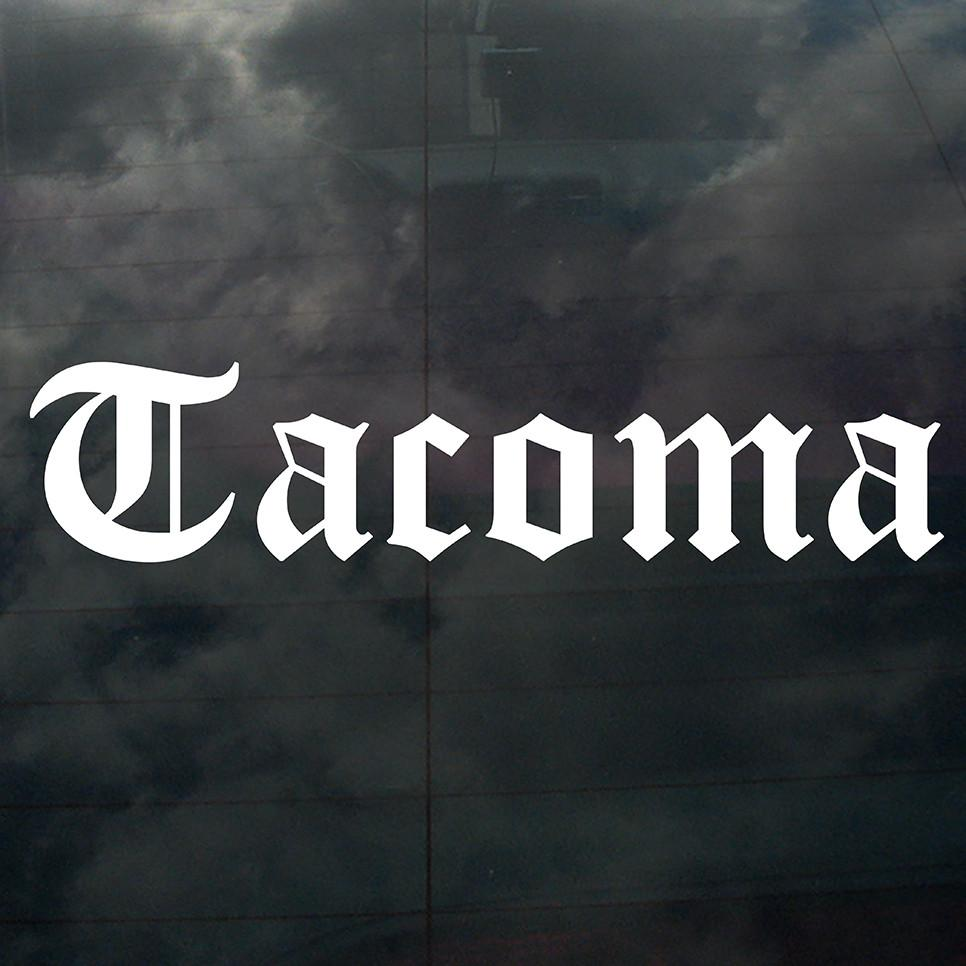 Tacoma Decal White - Crisis Clothing