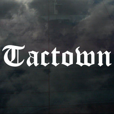 Tactown Decal White - Crisis Clothing
