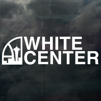 Seattle Super White Center Decal White - Crisis Clothing
