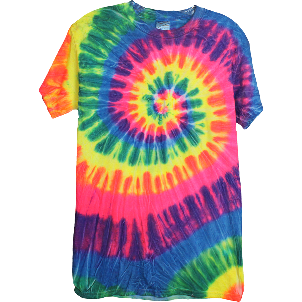 Wolfdelux Tie Die cotton tshirt, Men's Small - The North West Clothing