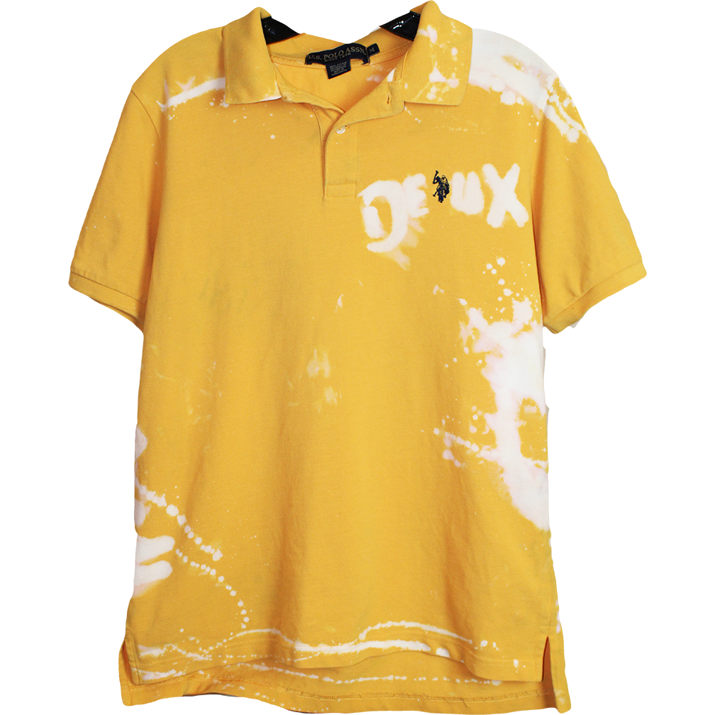Wolfdelux Yellow Polo Golf T-Shirt, Men's Medium - The North West Clothing