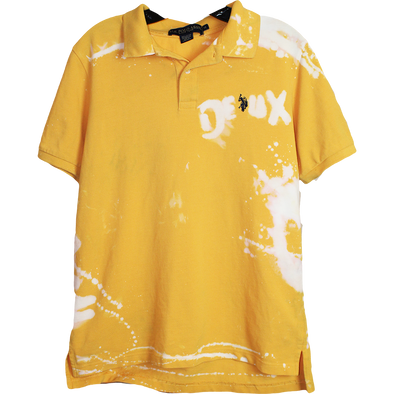Wolfdelux Yellow Polo Golf T-Shirt, Men's Medium
