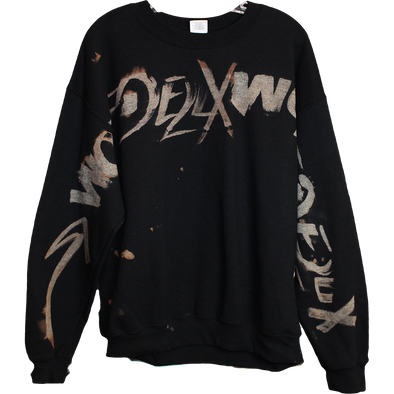 Wolfdelux Black Crewneck Sweatshirt, Large