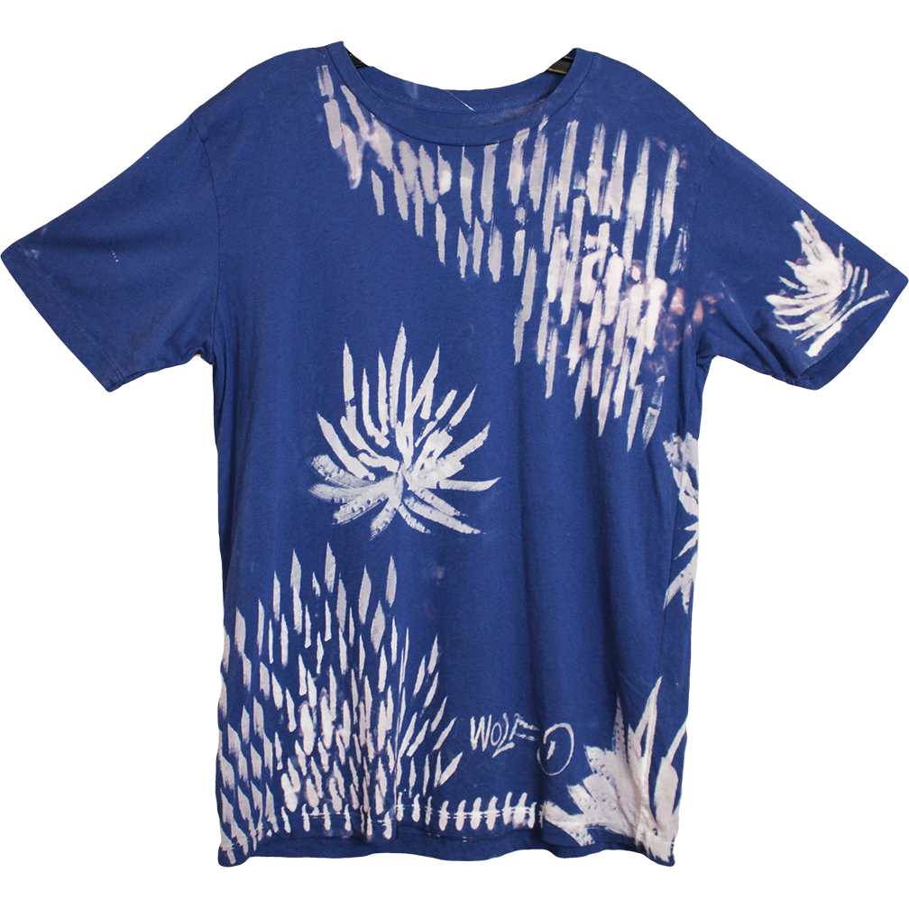 Wolfdelux Slim Fit Blue T-Shirt - Floral - Medium - The North West Clothing
