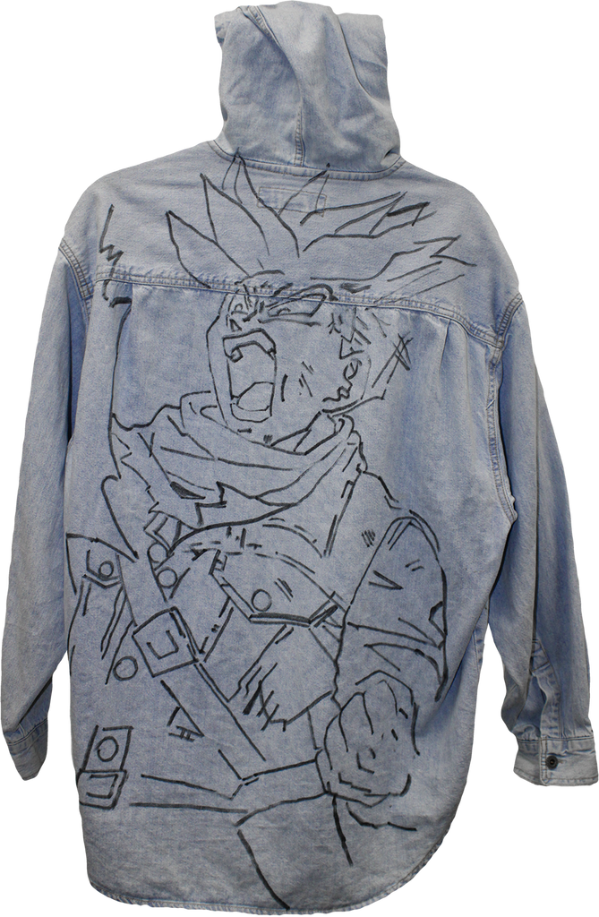 Wolfdelux Denim Jacket - Saiyan - The North West Clothing