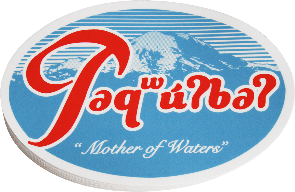 təqʷuʔbəʔ (Mount Tacoma / Rainier) Color Vinyl Sticker - The North West Clothing